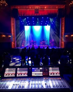 Soundboard and colorful stage